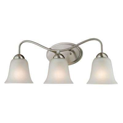 Conway 3-Light Brushed Nickel Wall Mount Bath Bar Light