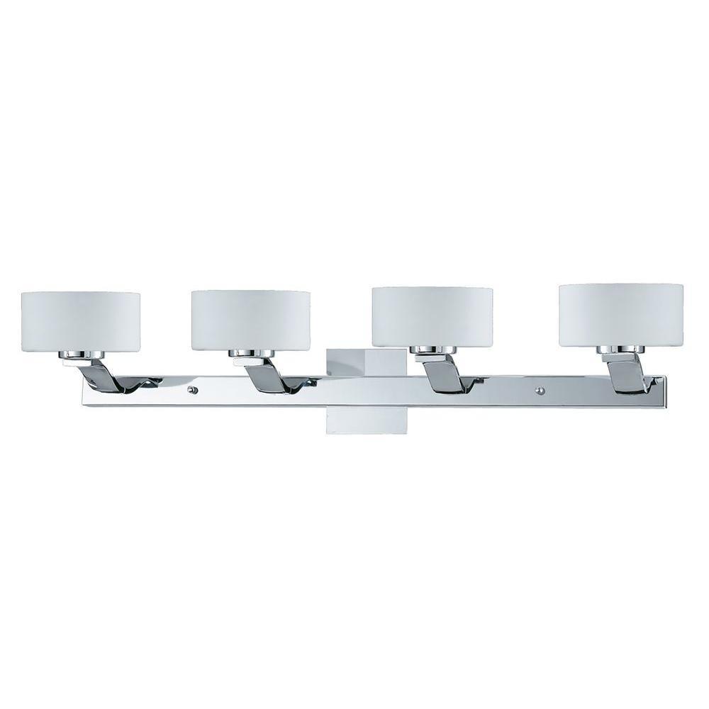 Filament Design Kawan 4-Light Chrome Bath Vanity Light