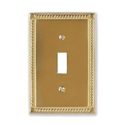 Brass Light Switch Plates Georgian  Brass  Switch Plates  Wall Plates  The Home Depot