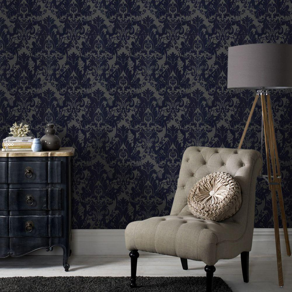 Fabulous Forest Muses Blue Removable Wallpaper With Graham And Brown Stockists