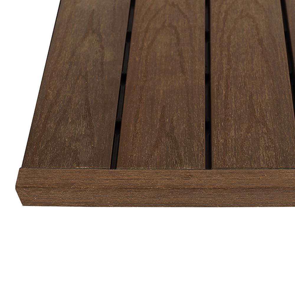 1/6 ft. x 1 ft. Brazilian Ipe Quick Deck Composite Deck Tile Straight End Fascia (4-Piece/Box)