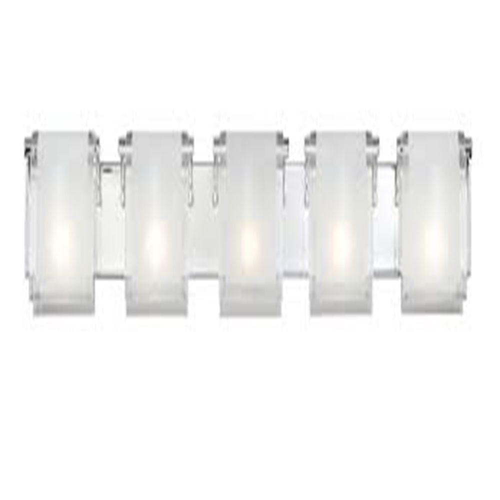 Filament Design Lawrence 5-Light Chrome Incandescent Bath Vanity Light