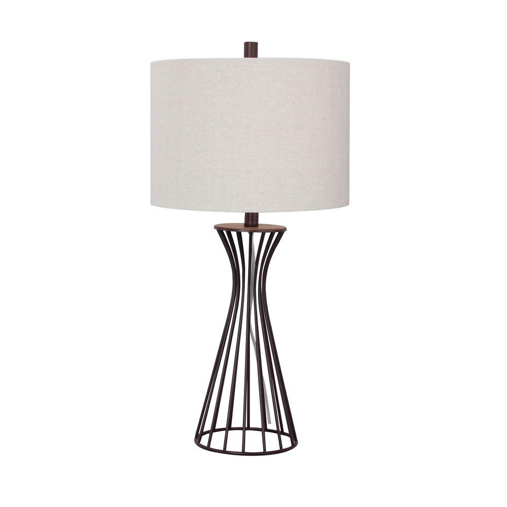 28.5 in. Oil-Rubbed Bronze Metal Table Lamp