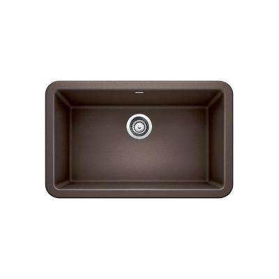 IKON Apron Front Granite Composite 29 in. Single Bowl Kitchen Sink in Cafe Brown