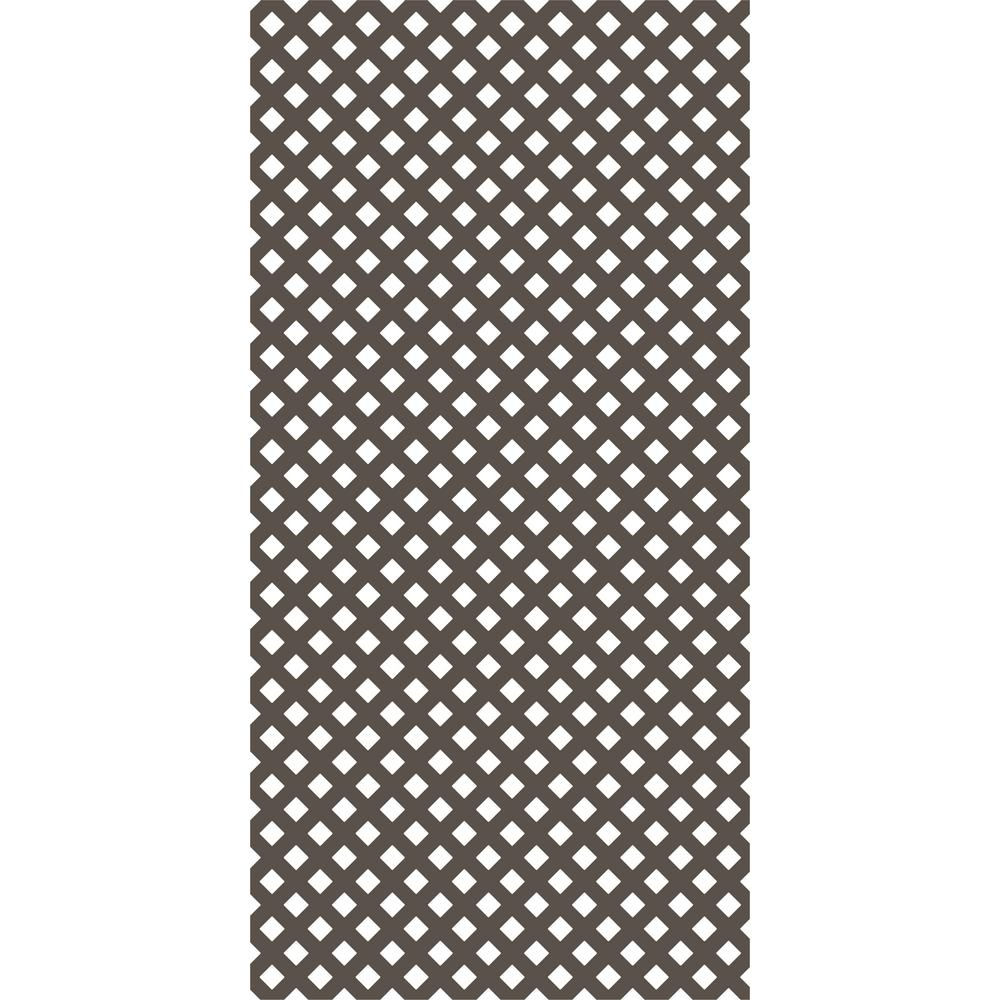 Gridworx 4 ft. x 8 ft. Mustang Brown Privacy Lattice (2-Pack)