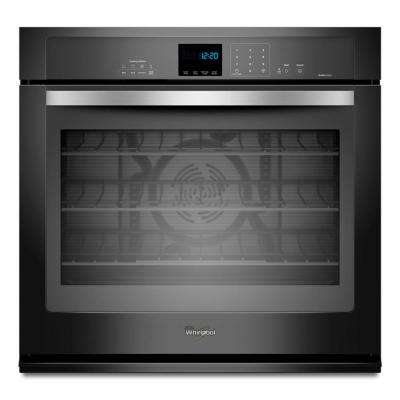 Gold 30 in. Single Electric Wall Oven Self-Cleaning with Convection in Black Ice