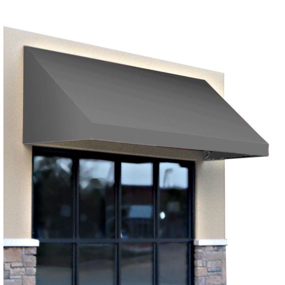 AWNTECH 3 ft. New Yorker Window/Entry Awning (44 in. H x 48 in. D) in Gray