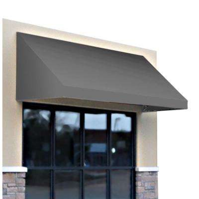 8 ft. New Yorker Window/Entry Awning (44 in. H x 48 in. D) in Gray