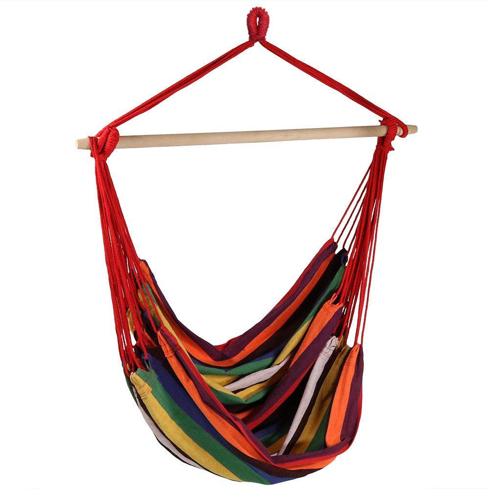 5 ft. Jumbo Hanging Hammock Swing Bed in Sunset