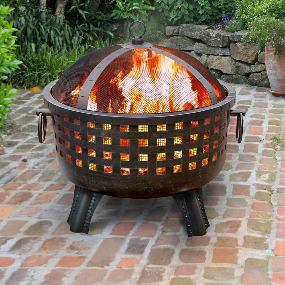 Garden Lights Savannah Antique Bronze Fire Pit