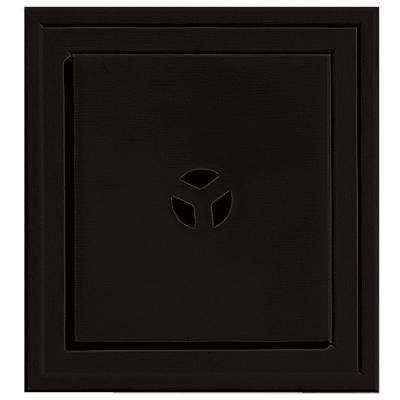 7.375 in. x 7.375 in. #002 Black Slim Line Mounting Block