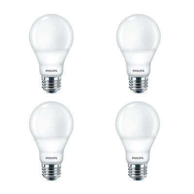 40-Watt Equivalent A19 Dimmable Energy Saving LED Light Bulb with Warm Glow Dimming Effect Soft White (4-Pack)
