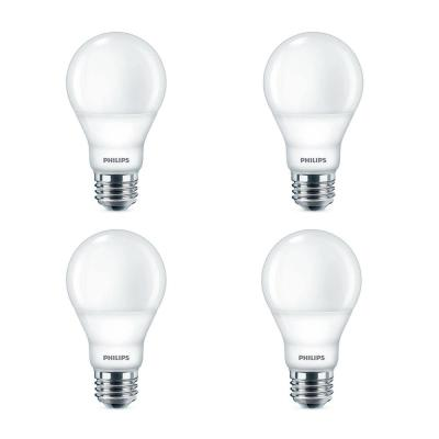 40-Watt Equivalent A19 Dimmable with Warm Glow Dimming Effect Energy Saving LED Light Bulb Soft White (2700K) (4-Pack)