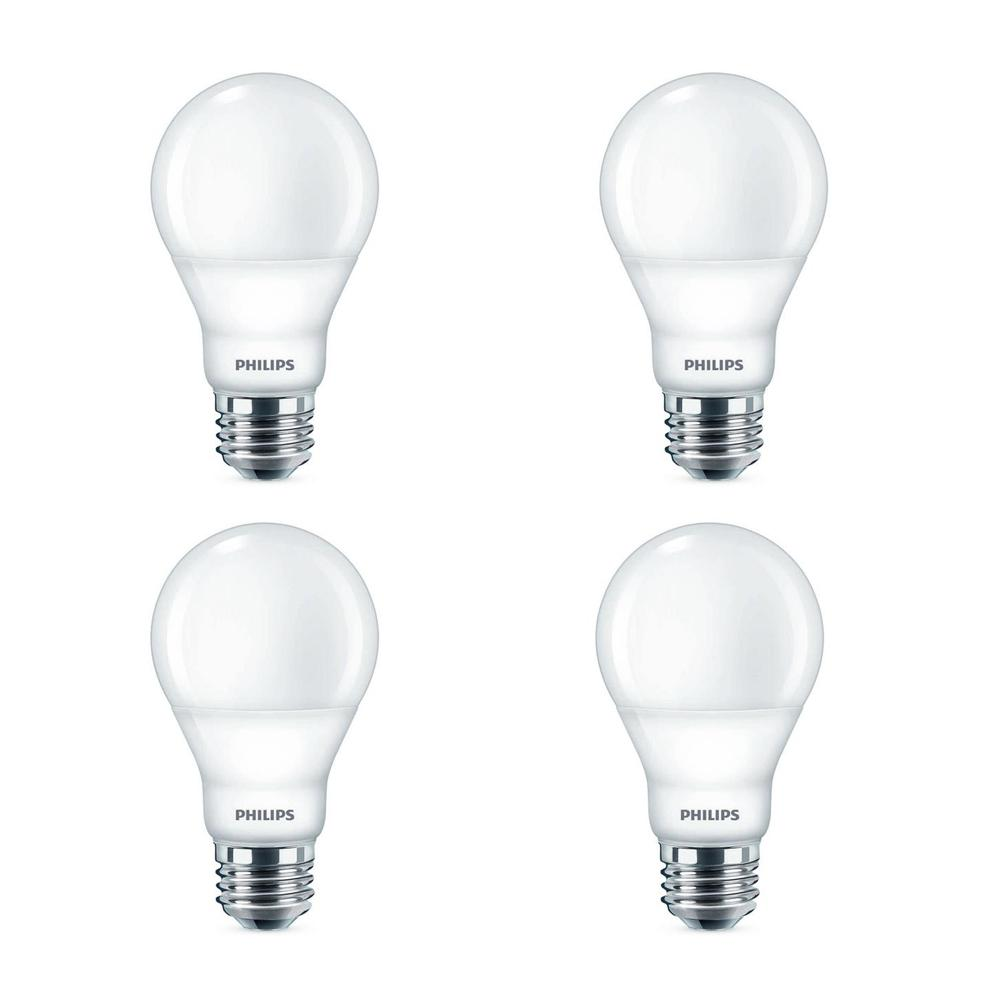 Philips 40-Watt Equivalent Soft White A19 Dimmable Energy Saving LED Light Bulb with Warm Glow Dimming Effect (4-Pack)
