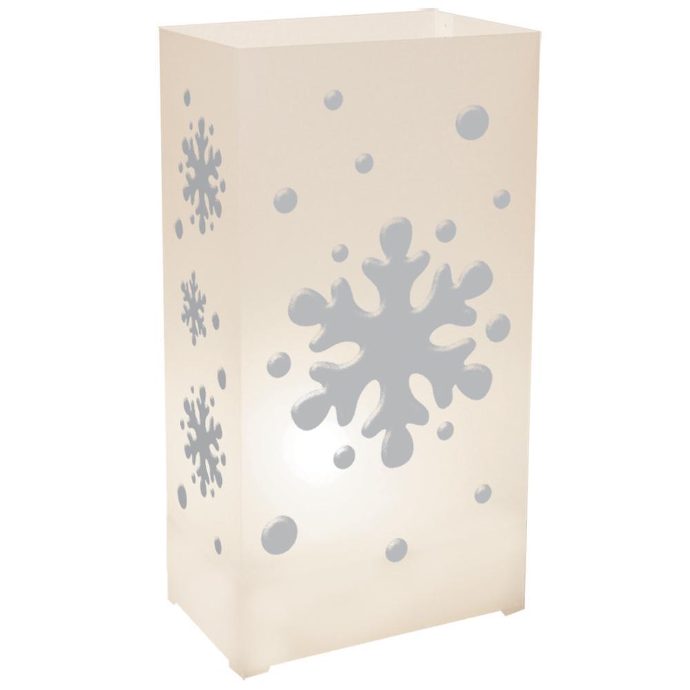 3.5 x 10.5 Snowflake Plastic Luminary (100- Pack)