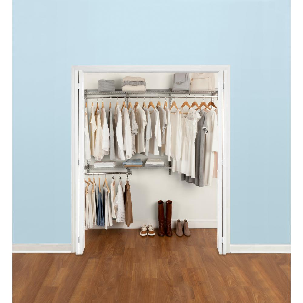 Rubbermaid 36 in  D x 72 in  W x 2 in  H Configurations Custom Metal Closet  System 3 - 6 ft  Deluxe Kit