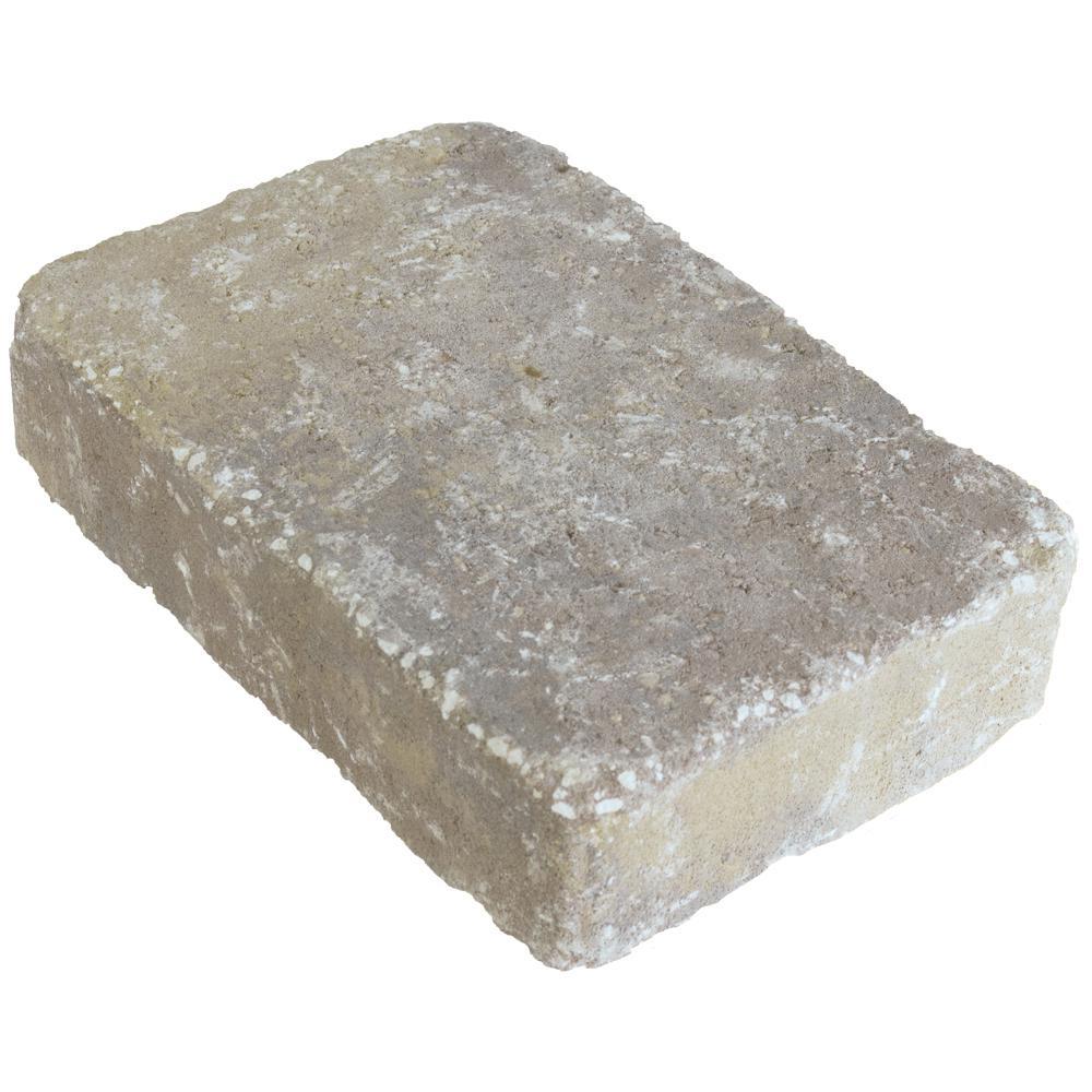 Marseilles 10.5 in. x 7 in. x 2.25 in. Silex Gray Concrete Paver