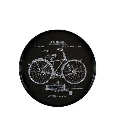 Vintage Drawings Bicycle Round Tray