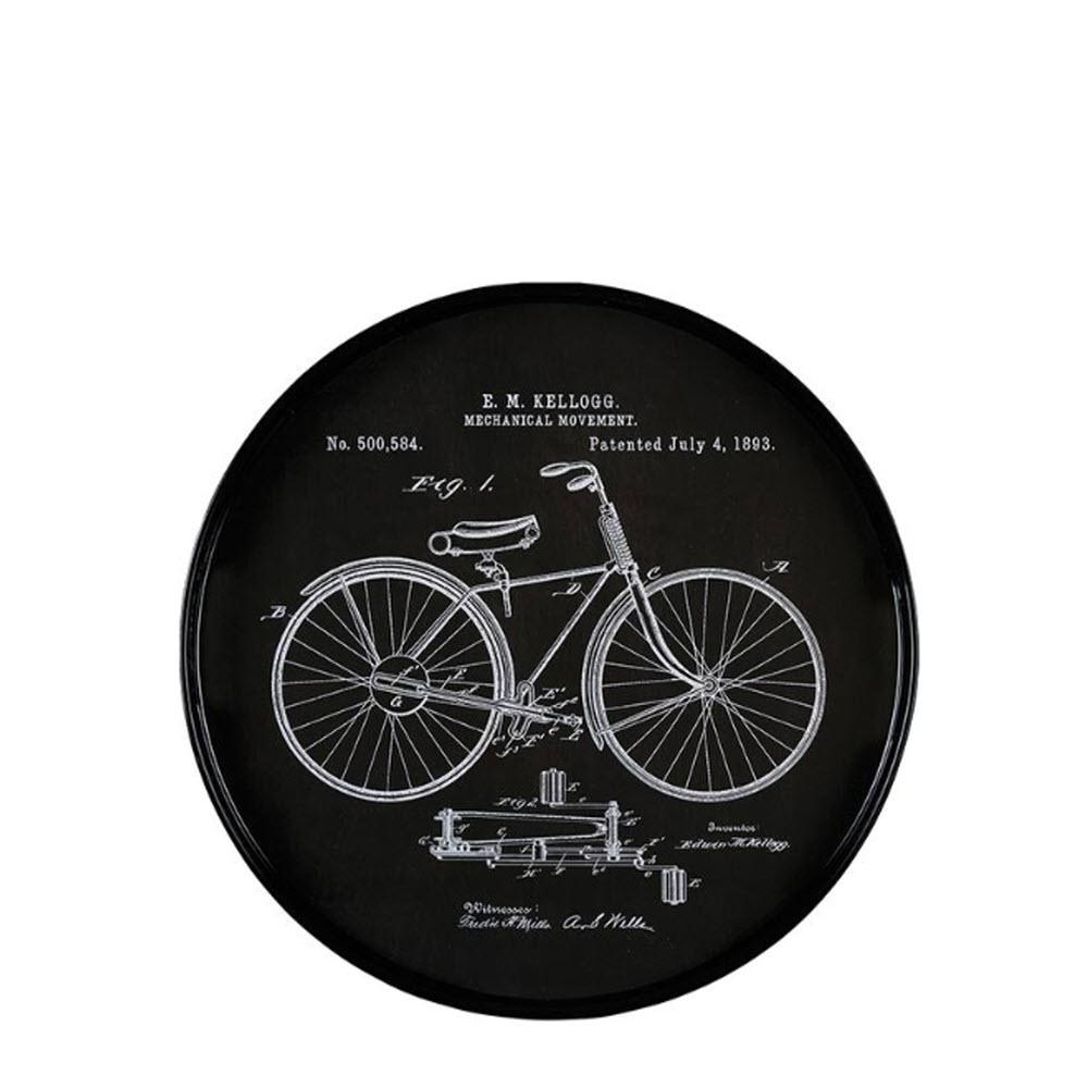 Home Decorators Collection Vintage Drawings Bicycle Round ...