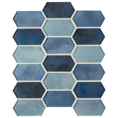 Boathouse Picket 10 in. x 12 in. x 8 mm Glass Mesh-Mounted Mosaic wall Tile (0.830 sq. ft.)