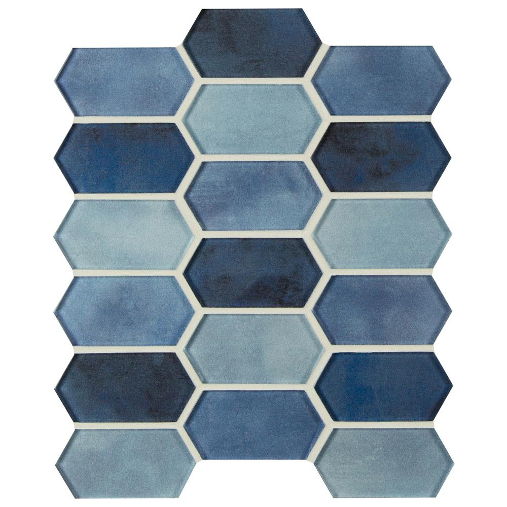 MSI Boathouse Picket 10 in. x 12 in. x 8 mm Glass Mesh-Mounted Mosaic wall Tile (0.830 sq. ft.)