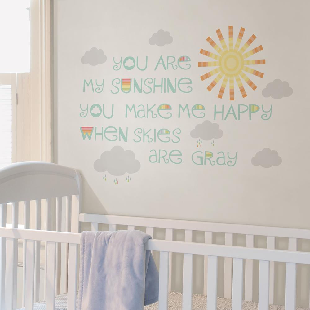 Merveilleux WallPOPs Multi Sunshine Wall Wish Wall Decal