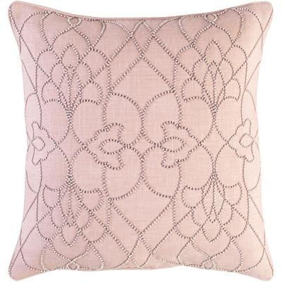 Romilly Blush Graphic Polyester 22 in. x 22 in. Throw Pillow