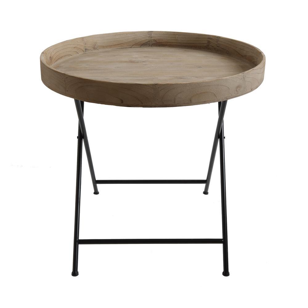 Natural Wood Folding Table/Tray