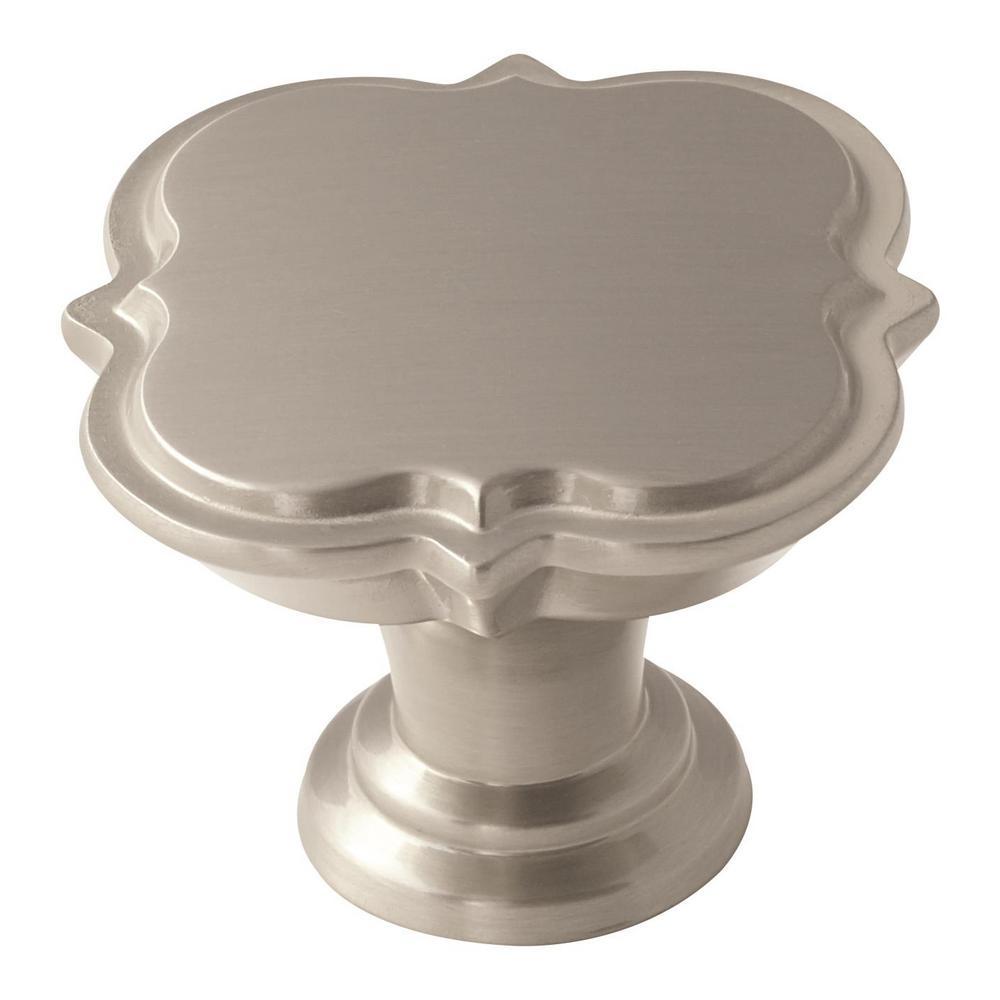 Amerock Grace Revitalize 1-3/4 in (44 mm) Diameter Satin Nickel Cabinet Knob