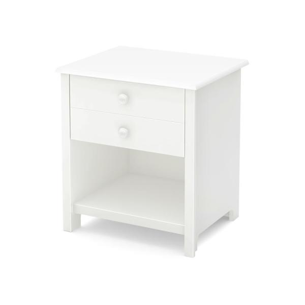 South Shore Little Smileys 1-Drawer Pure White Nightstand