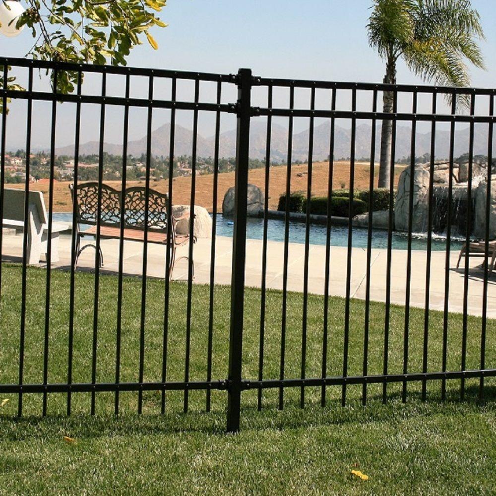 "Ornamental Flat Mount Bracket for Ornamental Fence fits 7//8/"" wide rail 2/"" Post"