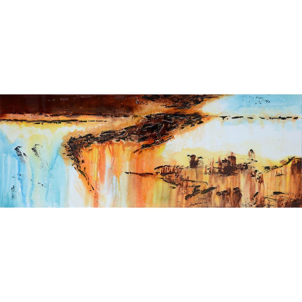 Yosemite Home Decor 18 in. x 47 in. Precipitous III Hand Painted Contemporary Artwork