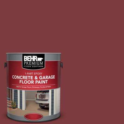 1 gal. #PFC-02 Brick Red 1-Part Epoxy Satin Interior/Exterior Concrete and Garage Floor Paint