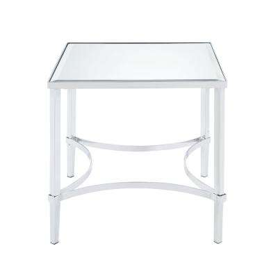 Petunia Chrome and Mirrored End Table