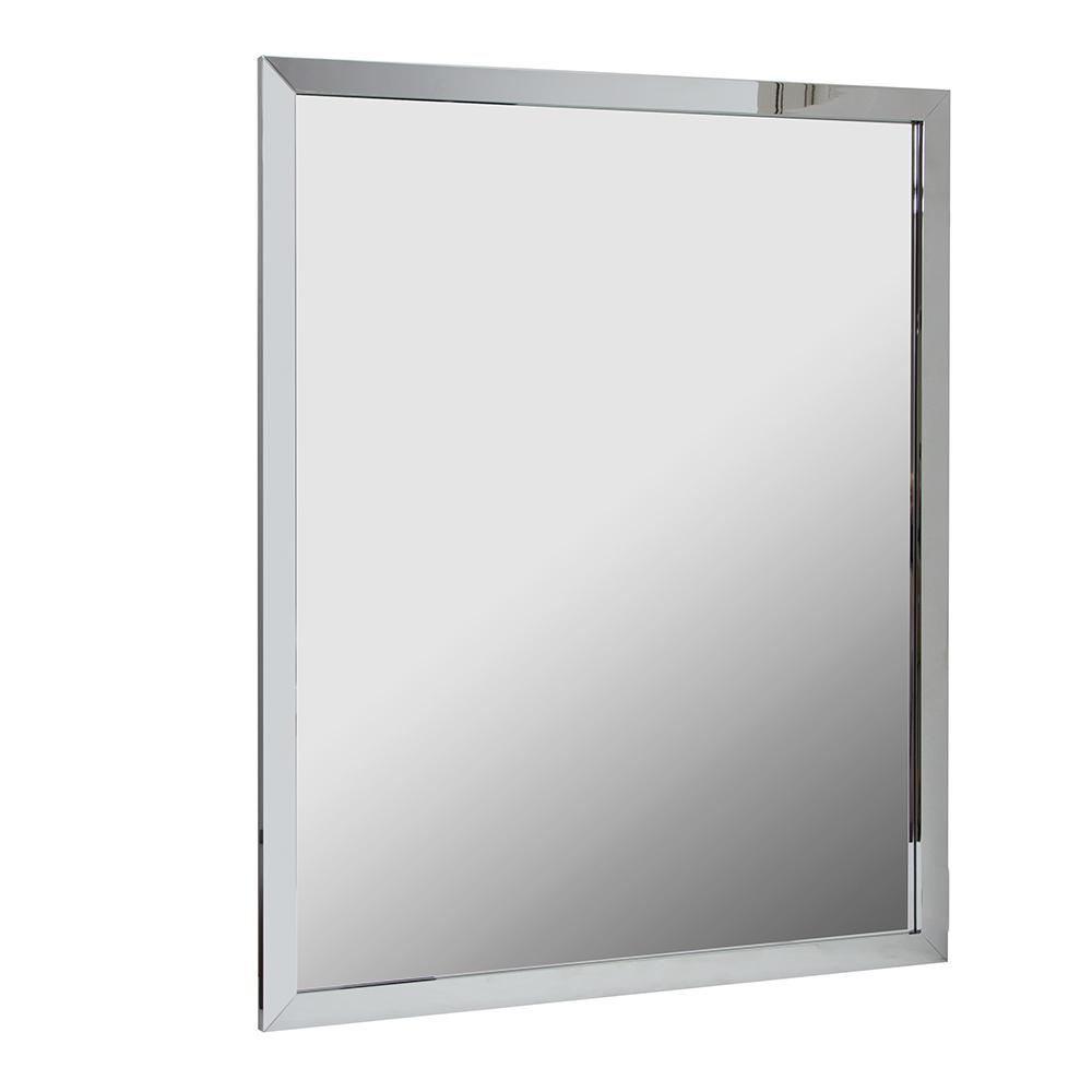 framed mirrors for bathroom vanities deco mirror 24 in w x 30 in h classic metal framed wall 23199