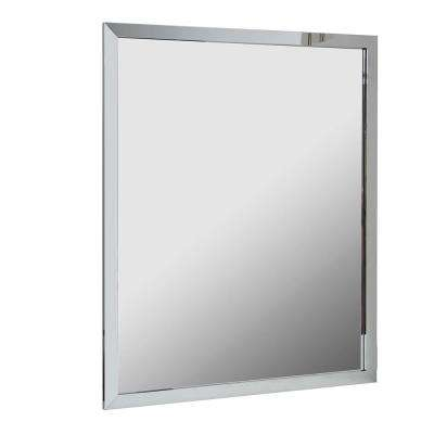 H Aluminum Wall Framed Mirror In Chrome