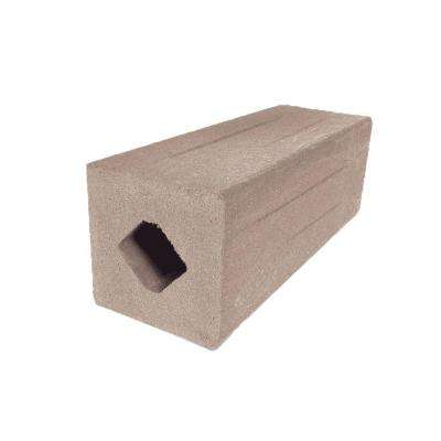 Vantage 4-1/4 in. x 4-1/4 in. x 51 in. Desert Sand Solid Composite Square Post with Center Chase