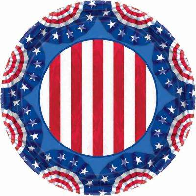 7 in. x 7 in. American Pride Paper Plates (60-Count)