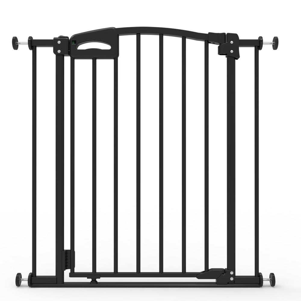 H Ultimate Safety Gate, Black With Secure Handle, Safe