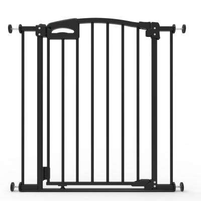31.5 in. H Ultimate Safety Gate, Black with Secure Handle, Safe Step, Auto Close, Up to 32.3 in. W