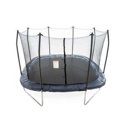 Skywalker Trampolines 13 ft. Square Trampoline with Lighted Spring Pad in Navy