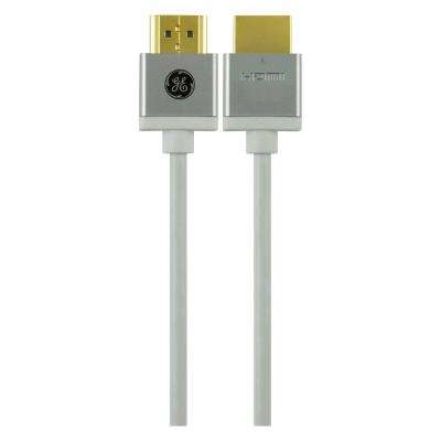 Ultra Pro HDMI 8 ft. Thin with Ethernet Cable in White