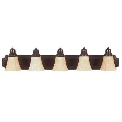 Bourland 5-Light Oil Rubbed Bronze Bath Vanity Light