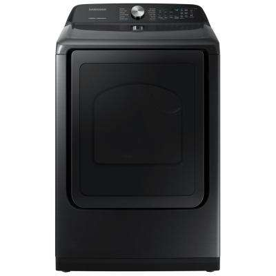 7.4 cu. ft. Fingerprint Resistant Black Stainless Electric Dryer with Steam Sanitize+