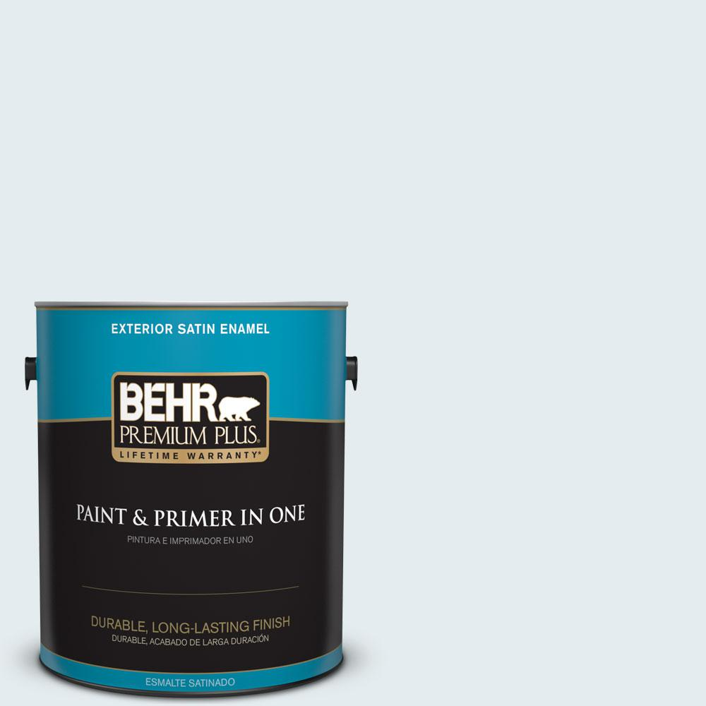 BEHR Premium Plus 1-gal. #W-D-510 Waterfall Mist Satin Enamel Exterior Paint