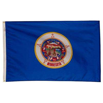 3 ft. x 5 ft. Nylon Minnesota State Flag