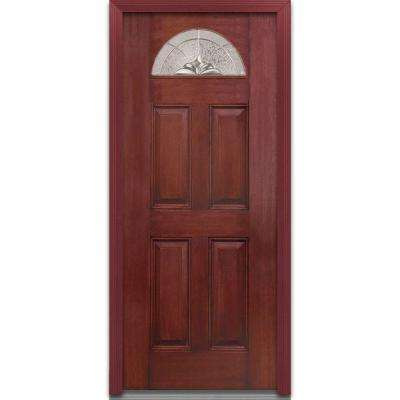 red front doors. 36 in  x 80 Heirloom Master Right Hand 1 4 Lite Red Front Doors Exterior The Home Depot