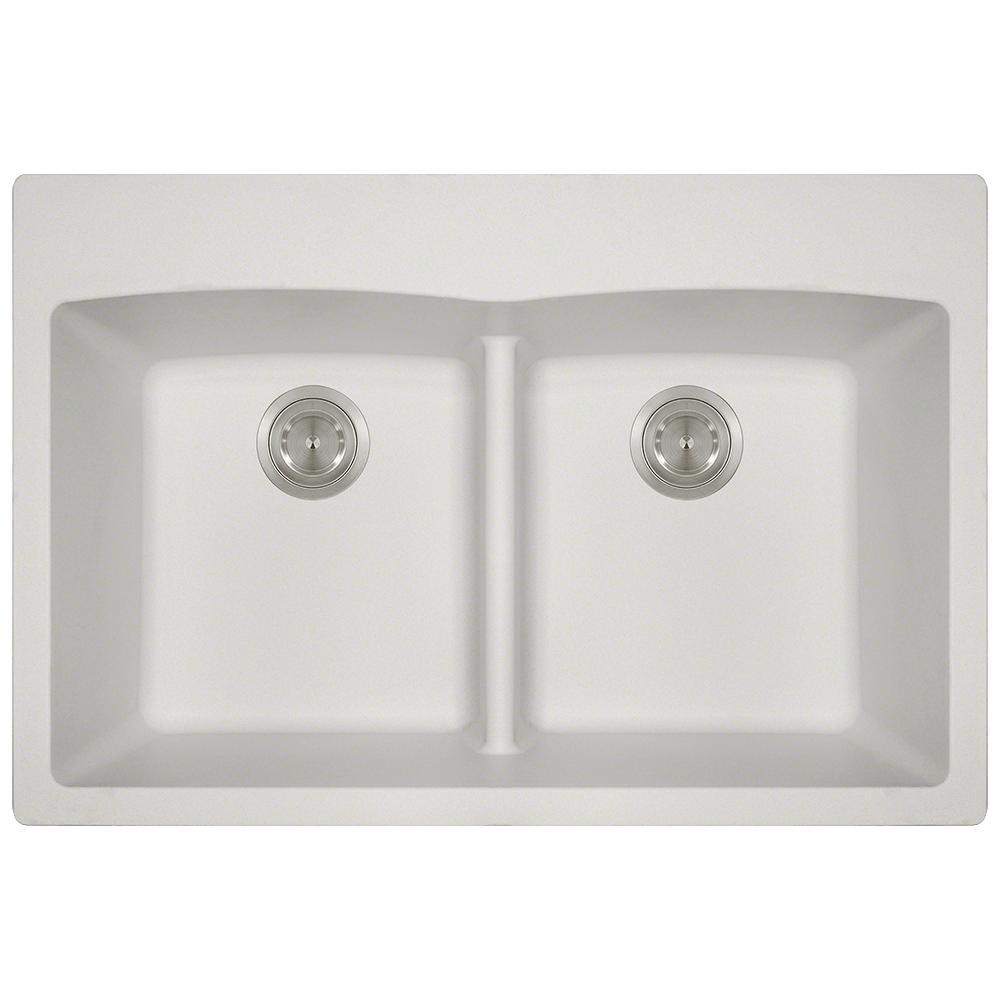 kitchen sinks direct mr direct drop in granite composite 33 in 5 equal 3004
