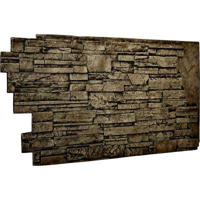 1-1/2 in. x 48 in. x 25 in. Grey Urethane Dry Stack Stone Wall Panel