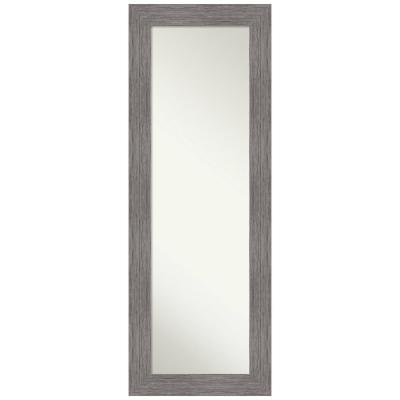 Large Rectangle Distressed Grey Hooks Modern Mirror (53.5 in. H x 19.5 in. W)